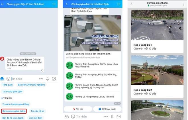 Bình Định thử nghiệm hệ thống giám sát giao thông qua Zalo ảnh 3