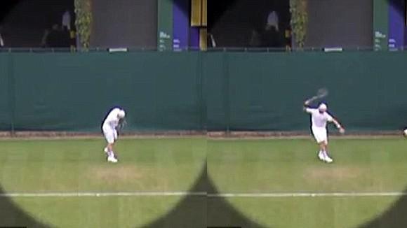 """""""Sao"""" quần vợt làm trò cười trên sân ảnh 1"""