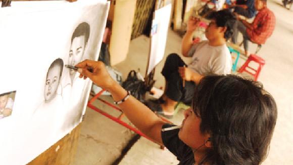 Những họa sỹ đường phố Jakarta ảnh 1