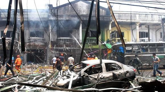 Nổ bom ở miền Nam Thái Lan ảnh 1