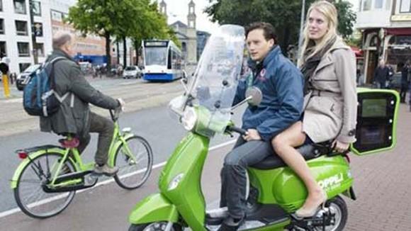 Amsterdam cổ súy xe máy điện ảnh 1