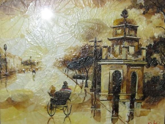 Triển lãm tranh lá đầu tiên tại Việt Nam ảnh 1