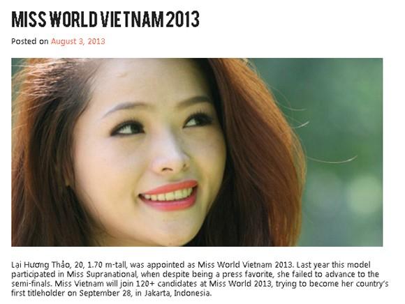 """Nhan sắc Việt dự thi """"Hoa hậu Thế giới 2013"""": Không """"cố đấm ăn xôi"""" ảnh 1"""