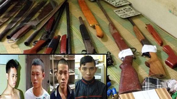 Bắt 4 đối tượng giết người tại nhà nghỉ Hương Rừng ảnh 1