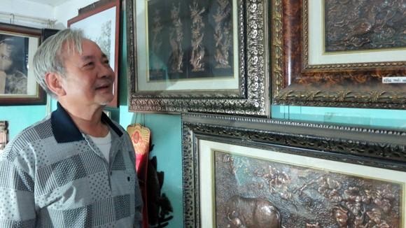 Nghệ nhân Lê Văn Phú và những bức tranh thúc đồng có một không hai