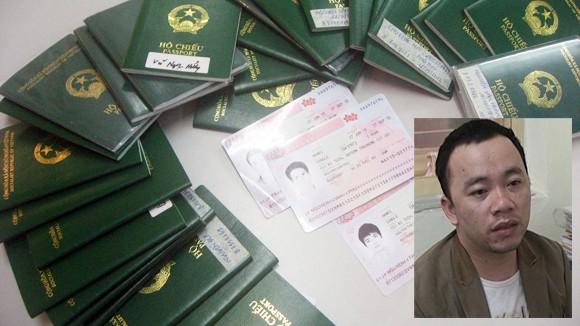 Hàng chục hộ chiếu, thị thực nghi bị làm giả ảnh 1