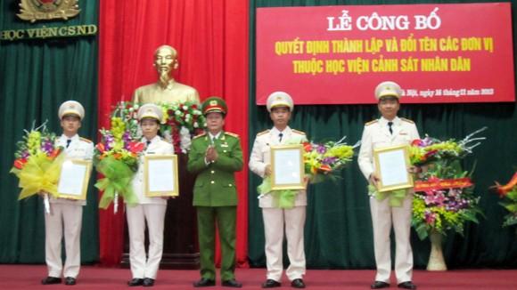 Học viện CSND ra mắt 4 đơn vị mới ảnh 1