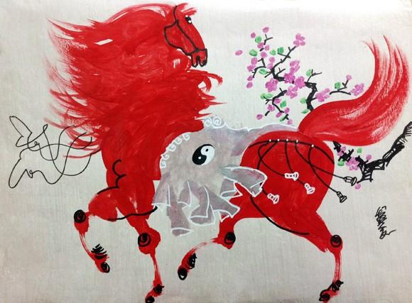 Họa sĩ Lê Trí Dũng: Nghìn ngựa ào qua đầu ngọn bút ảnh 1