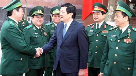 Chủ tịch nước thăm và chúc Tết Bộ đội Biên phòng ảnh 1