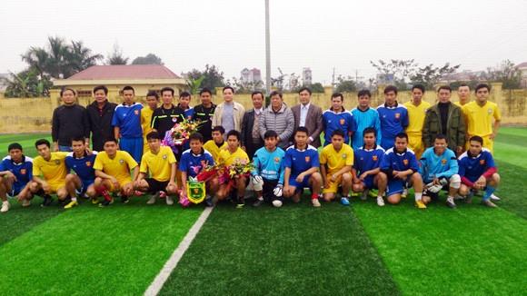 Đội bóng An ninh Thủ đô thi đấu giao hữu tại Hưng Yên ảnh 1