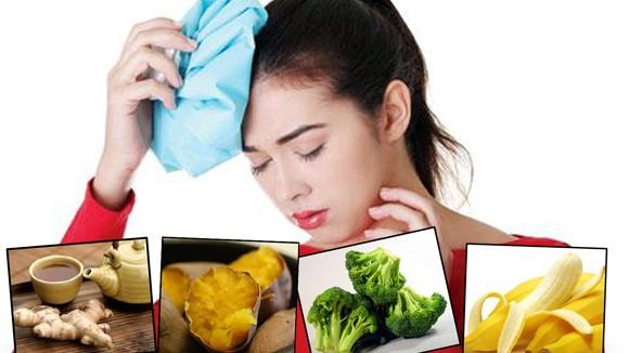 Thực phẩm trị chứng đau đầu ảnh 1