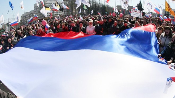 Bùng phát biểu tình ở miền Đông Ukraine ảnh 1