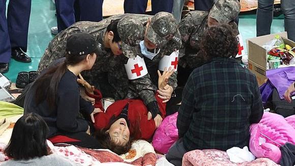 Vụ chìm phà Hàn Quốc: Số người chết tăng lên 58 ảnh 1