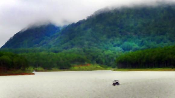 Lãng đãng sương giăng hồ Tuyền Lâm ảnh 1