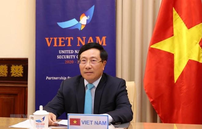 Việt Nam cam kết và kêu gọi các nước tăng cường hợp tác, đoàn kết quốc tế chống dịch Covid-19 ảnh 1