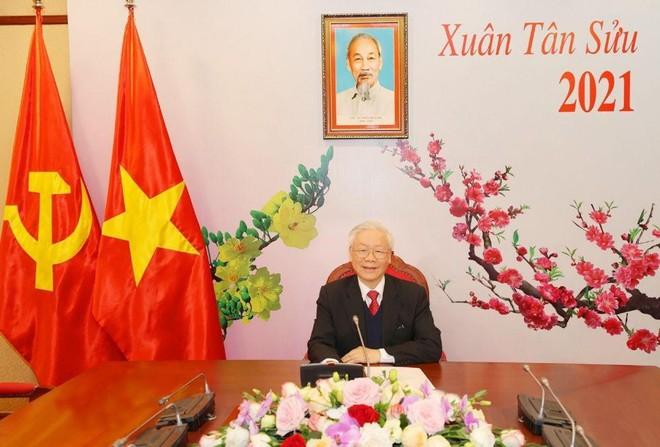 Tổng Bí thư, Chủ tịch nước Nguyễn Phú Trọng điện đàm với Tổng Bí thư Lào Thongloun Sisoulith ảnh 1