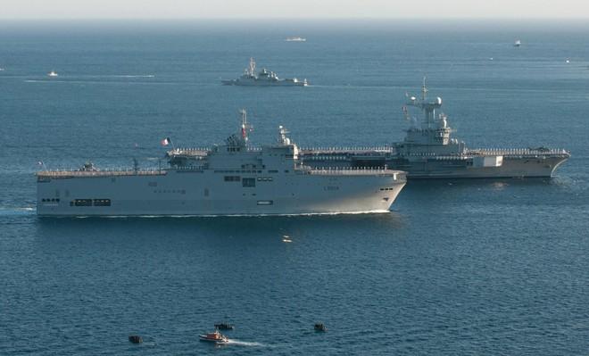 Nhật Bản, Mỹ, Pháp tập trận chung trên biển ảnh 1