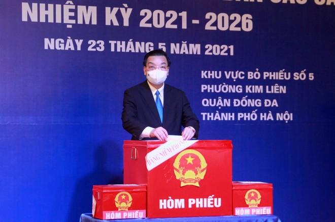 Hà Nội đã vào cuộc chủ động, quyết liệt, tích cực triển khai đồng bộ các giải pháp phòng chống dịch cho ngày bầu cử ảnh 1