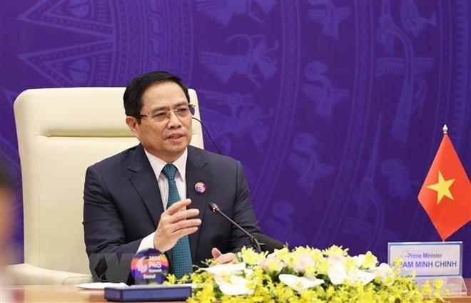 Thủ tướng Phạm Minh Chính nêu giải pháp phát triển bền vững hậu Covid-19 tại Phiên thảo luận Hội nghị P4G ảnh 1