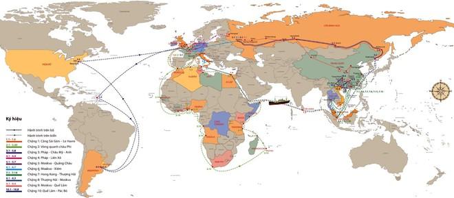Bản đồ hành trình 30 năm tìm đường cứu nước của Bác Hồ: Hành trình vĩ đại vì độc lập dân tộc ảnh 1