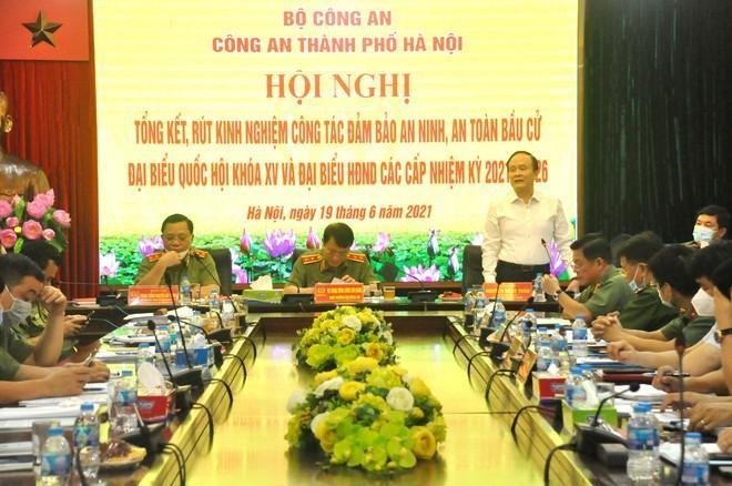 Công an Hà Nội góp phần quan trọng vào thành công của cuộc bầu cử ảnh 3