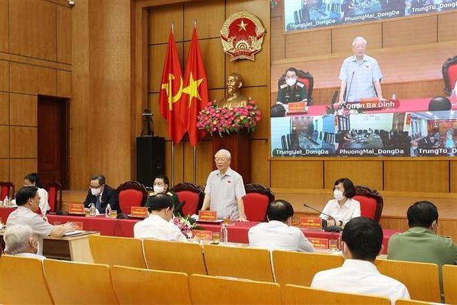 Tổng Bí thư: Hà Nội phải dẫn đầu, xứng đáng là Thủ đô anh hùng của dân tộc Việt Nam anh hùng ảnh 1