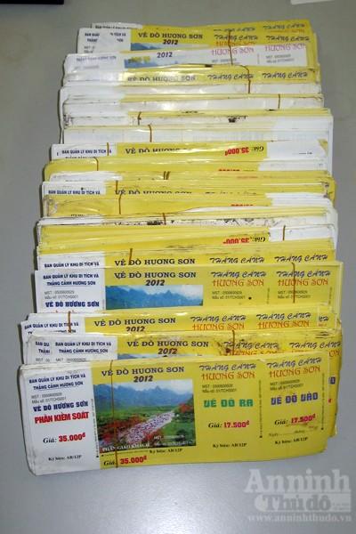 Hàng nghìn vé đò, vé thắng cảnh chùa Hương bị làm giả ảnh 2