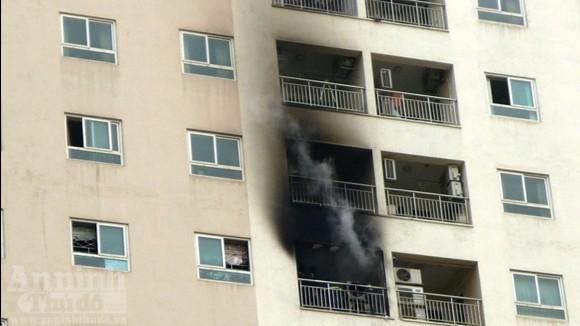 Chung cư 34T cháy do chập điện điều hòa ảnh 1