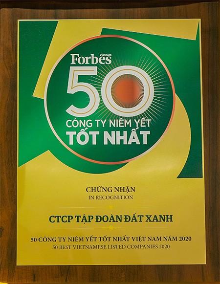 """Lần thứ 8 liên tiếp, Tập đoàn Đất Xanh được vinh danh """"Top 50 công ty niêm yết tốt nhất Việt Nam 2020"""" ảnh 3"""