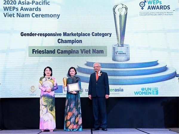 Friesland Campina Việt Nam tự hào nhận giải thưởng Trao quyền cho phụ nữ khu vực châu Á – Thái Bình Dương ảnh 1