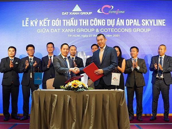 Tập đoàn Đất Xanh và Coteccons bắt tay xây dựng dự án Opal Skyline ảnh 1