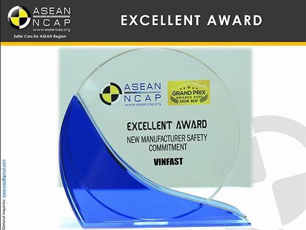 """VinFast đoạt giải """"Hãng xe có cam kết cao về an toàn"""" ASEAN CAP ảnh 2"""