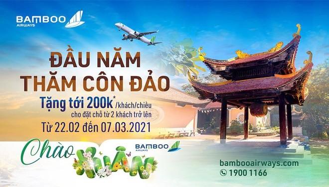 Chào xuân Bamboo Airways tặng ngàn mã giảm giá cho khách bay thẳng Côn Đảo ảnh 1