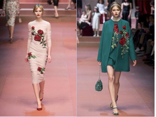 Cảm hứng hoa hồng trong những bộ sưu tập thời trang kinh điển ảnh 1