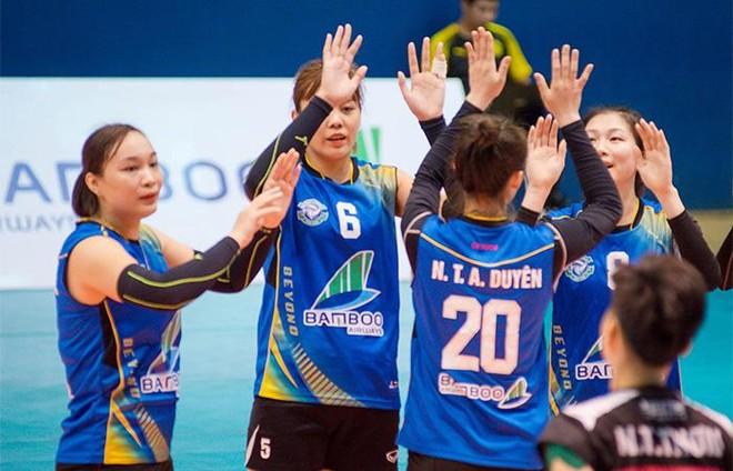 Đội bóng chuyền nữ Bamboo Airways Vĩnh Phúc gây ấn tượng mạnh trong trận ra mắt ảnh 5