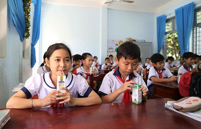 """4 năm triển khai, Sữa học đường tỉnh Bến Tre """"được lòng"""" cả thầy, trò, phụ huynh ảnh 5"""