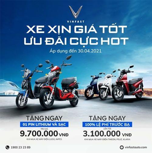 Cơ hội nhận ưu đãi lớn khi mua xe máy điện VinFast trong tháng 4 ảnh 1