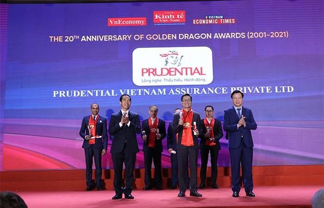 20 năm giải Rồng Vàng vinh danh Prudential – Công ty bảo hiểm duy nhất trong Top 10 doanh nghiệp FDI phát triển bền vững ảnh 1