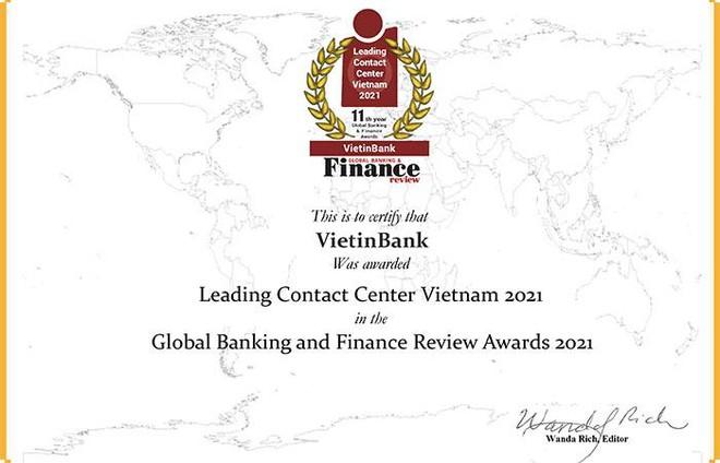 """VietinBank lần thứ 4 liên tiếp nhận giải thưởng """"Trung tâm Dịch vụ khách hàng dẫn đầu Việt Nam"""" ảnh 1"""