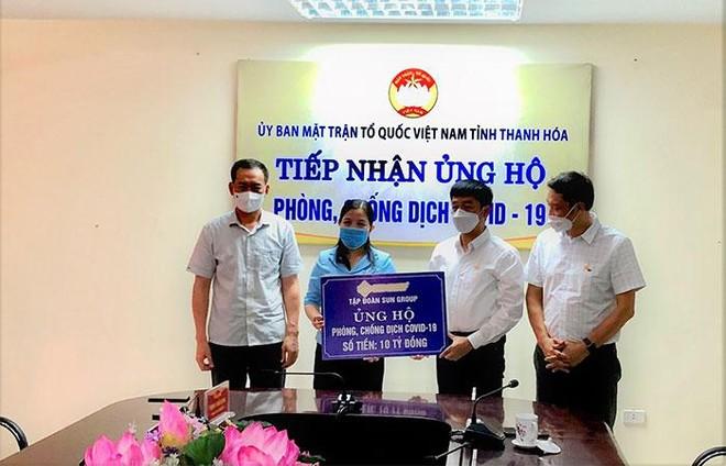 Tập đoàn Sun Group ủng hộ Thanh Hóa 10 tỷ đồng cho Quỹ phòng chống dịch Covid-19 ảnh 1