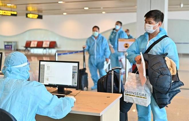 """Sân bay Vân Đồn đón 345 khách có """"Hộ chiếu vắc xin"""" về từ Mỹ ảnh 1"""