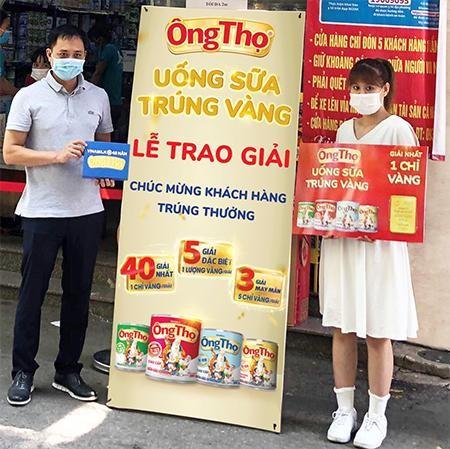 Sữa đặc Ông Thọ mừng sinh nhật 45 năm với cơn mưa vàng đã đến với nhiều khách hàng may mắn ảnh 1