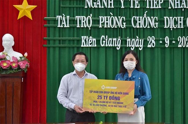 Sun Group hỗ trợ thêm 25 tỷ đồng giúp Kiên Giang chống dịch, chuẩn bị đón khách tới Phú Quốc ảnh 1