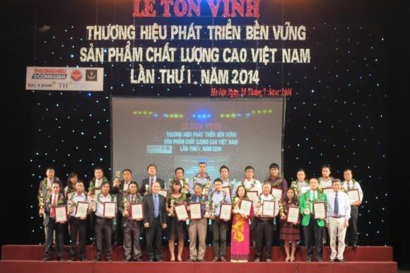 Tôn vinh 10 thương hiệu bền vững Việt Nam 2014 ảnh 1