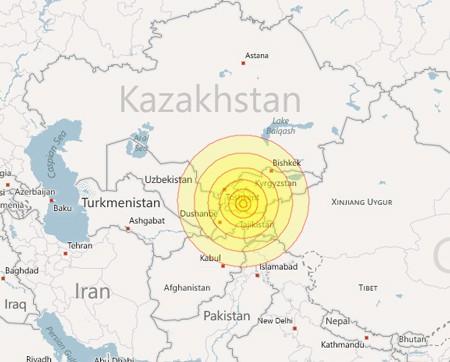 Động đất tại Trung Á khiến 14 người thiệt mạng ảnh 1