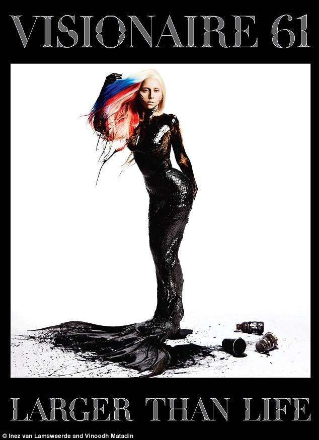 Lady Gaga xuất hiện trong trang phục dầu nhớt ảnh 1