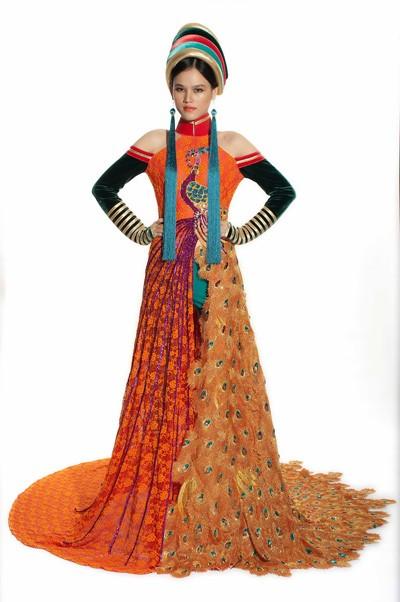 Tuyết Lan mặc áo dân tộc Dao dự thi người mẫu thế giới ảnh 5
