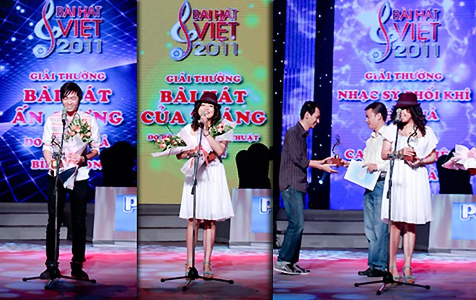Bài hát Việt 2011 rút gọn hệ thống giải thưởng ảnh 1