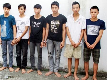 6 đối tượng tại Cơ quan CSĐT Công an thành phố Lào Cai.