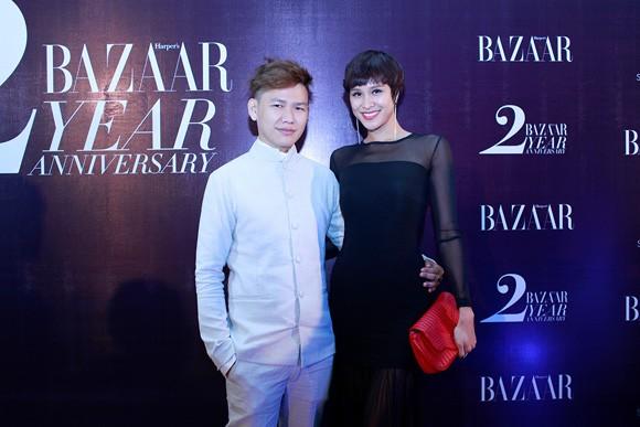 Trương Ngọc Ánh diện váy đỏ quyến rũ, dự tiệc cùng nhà thiết kế trẻ ảnh 6